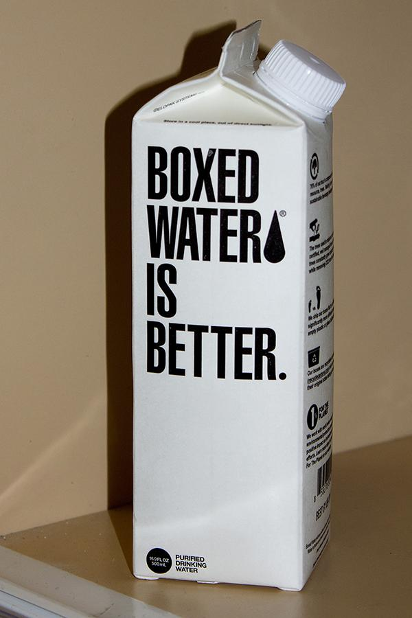 Boxed water is sold at Hayden Dining Hall's Quick Stop Convenience Store.