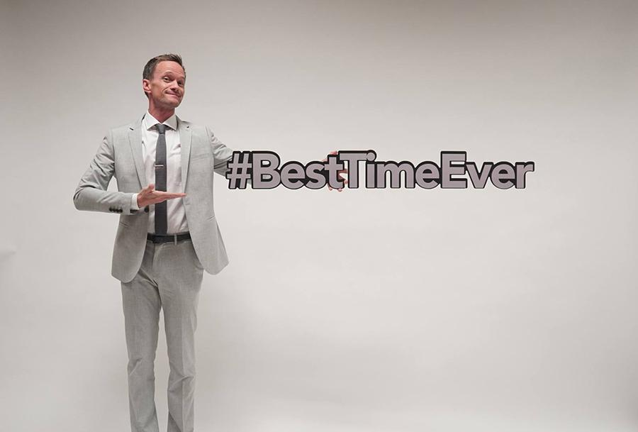 Neil Patrick Harris hosts Best Time Ever, a new variety show.