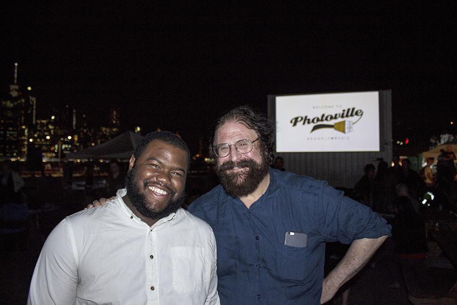 Producer James Estrin (right) and Assistant Producer Elijah Walker (left).