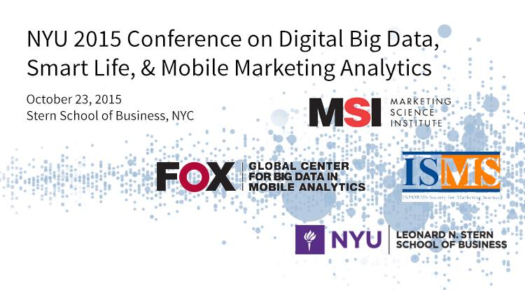 On October 23rd, Stern's Big Data Conference will explore how mobile technologies and connected smart devices affect advertising, promotions, marketing ROI, and omni-channel targeting effectiveness.