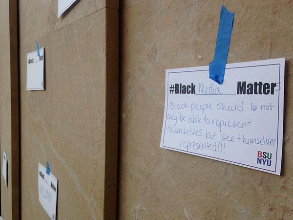 The Black Student Union presented The Black Presence Campaign in Kimmel.