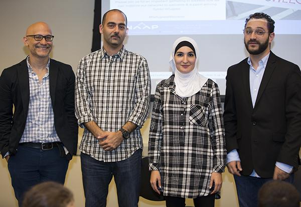Gerrard Khan, Sarad Al-Jijakli, Lind a Sarsour, and Ridwan Adhami discuss how Syrian refugees can be helped in the United States.