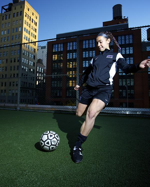 Steinberg has been the starting goalie for all three years of her NYU Soccer career.