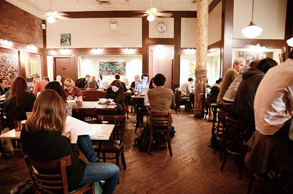 Think Coffee on Mercer offers a good place to study for students who prefer background noise.