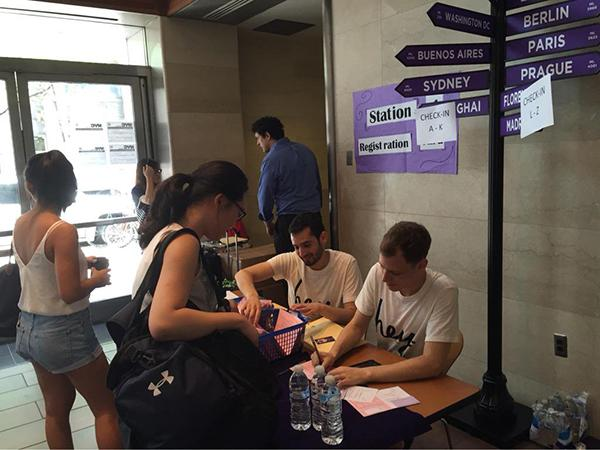 NYU students get their housing assignments during fall's Welcome Week.