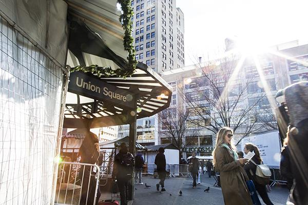 t is the opening weekend of Union Square's annual Holiday Market, presenting dozens of vendors selling a variety of goods from jewelry, accessories, toys, and amazing snacks from several local food vendors.