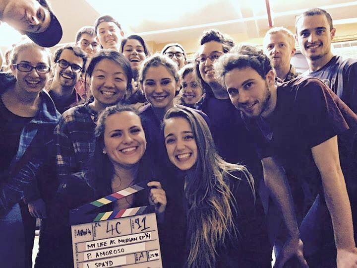 """The cast of """"My Life As Morgan,"""" a YouTube series created by NYU senior Katherine Banos."""