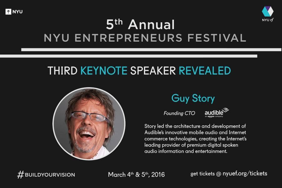Founding CTO of Audible To Be Final Entrepreneurs Festival Keynote Speaker