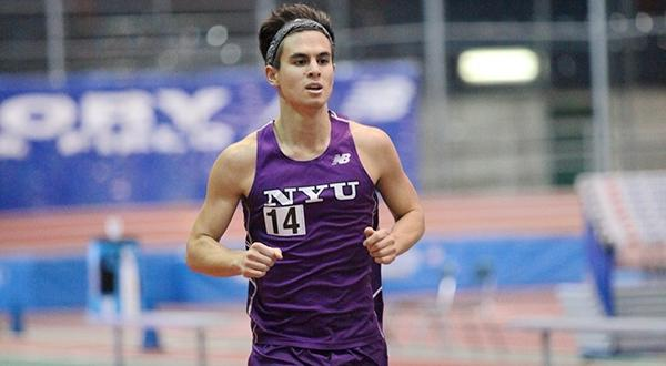 Daniel Rieger led a group of four Violets in the mile, placing sixth with his time of 4:23.26.