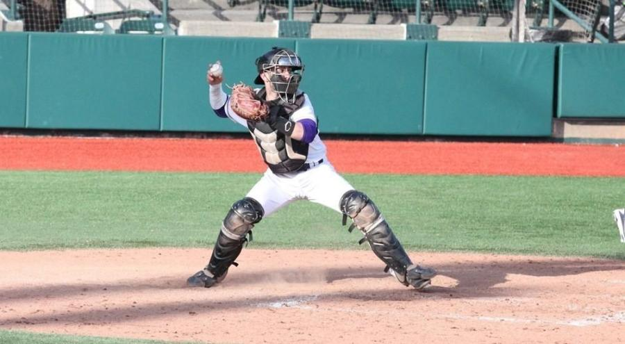 CJ Picerni was standout performer in the NYU Men's Baseball team against Ursinus College.