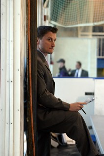 Chris Cosentino is the head coach of NYU's Men's Ice hockey team.