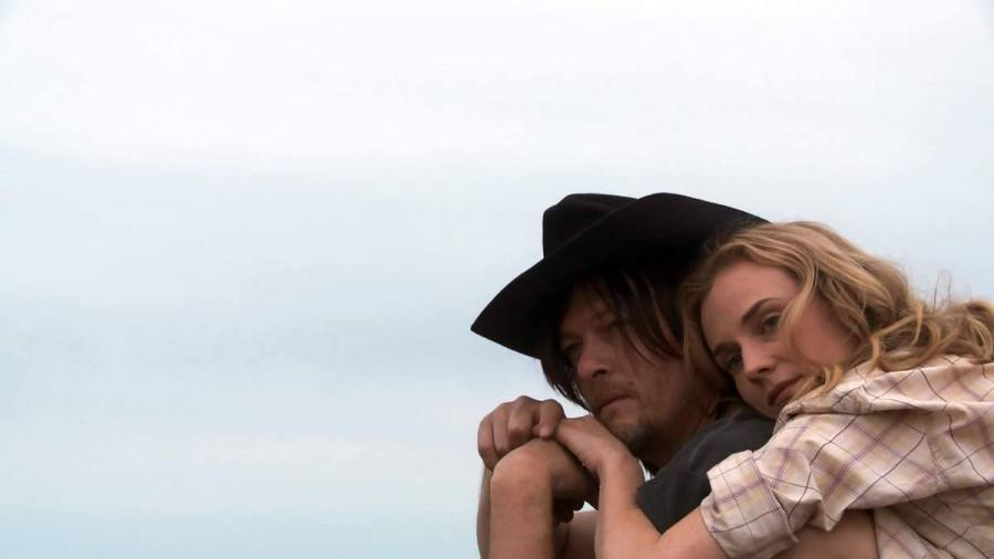 Diane+Kruger+and+Norman+Reedus+embrace+in+%22Sky%22%2C+an+upcoming+French-German+drama+film.+