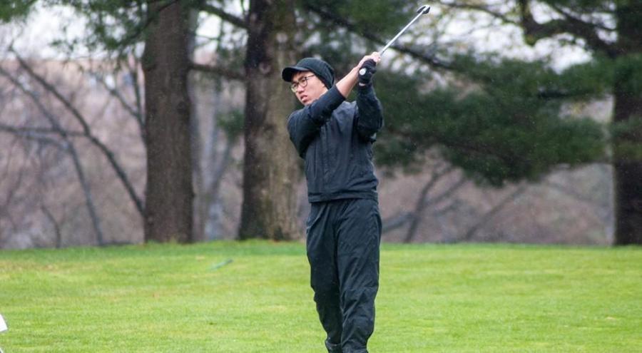 Qizhi Wong was the NYU Men's golf team's top performer on Saturday.