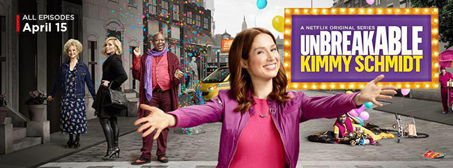 The second season of Netflix's original series Unbreakable Kimmy Schmidt was released on April 15th.