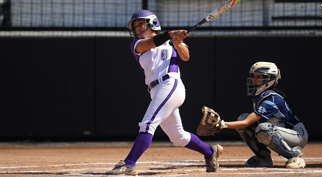 Kahala Bonsignore had two hits across the two games played against Drew University on Wednesday, April 27.