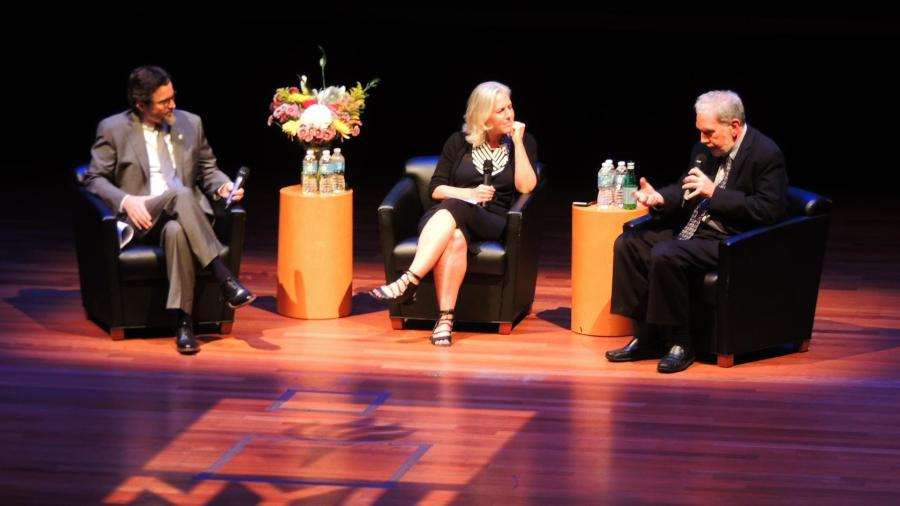 Former NYU President John Sexton returned to the university this Tuesday for a panel in Skirball.