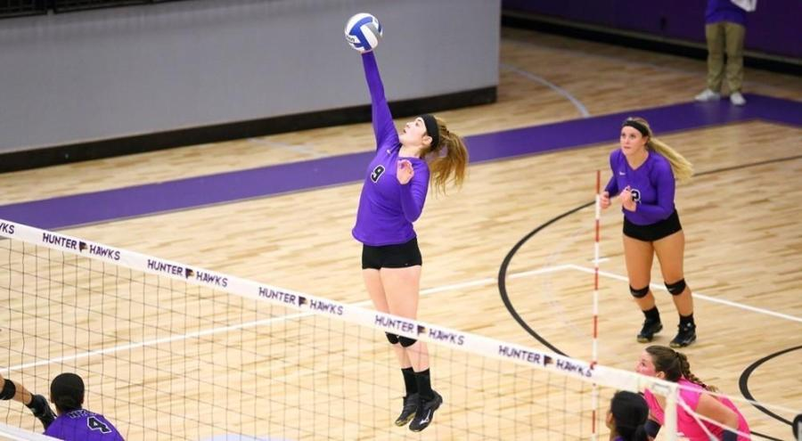 The NYU women's volleyball team has been doing very well so far this season.