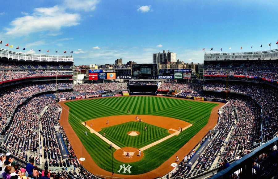 The Yankee Stadium in the Bronx is an iconic space for sports in NYC.