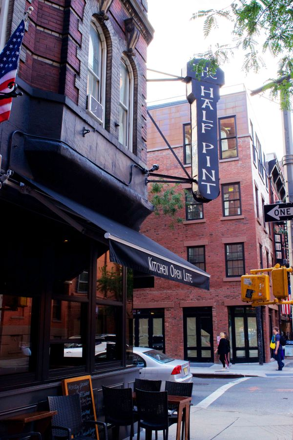 The Half-Pint, located on West 3rd and Thompson Street, is part of the network which donates revenue toNYU clubs and causes.