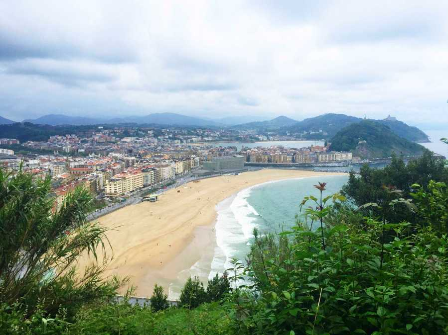 The view from Camino del Santiago, a pilgrimage many Spaniards do, in San Sebastián. We hiked it on a morning of the weekend trip to the north coast.