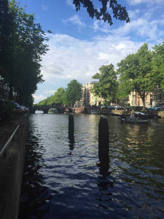 Right before I hopped on a canal tour next to the Anne Frank House in Amsterdam.