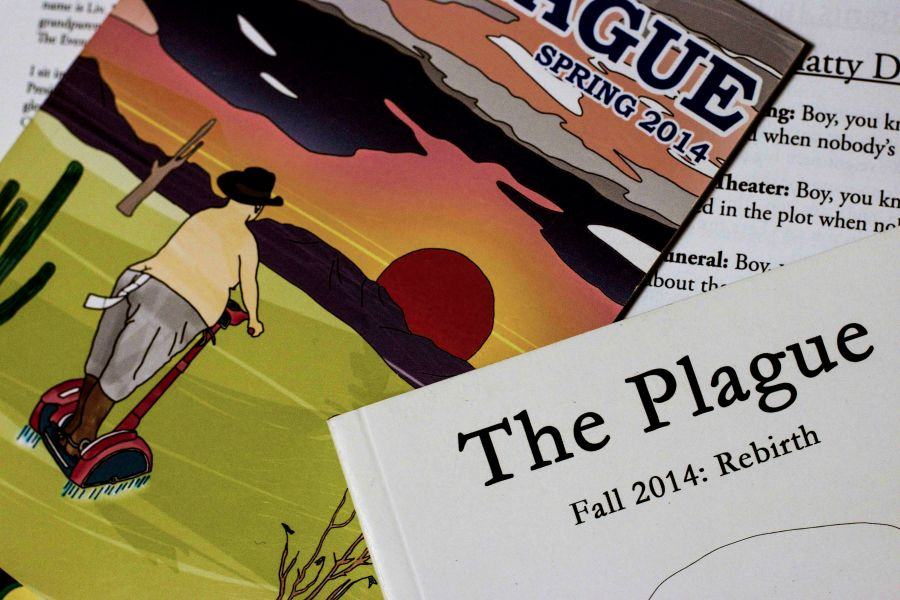 """The Plague magazine, """"NYU's only intentionally funny publication,"""" has been active from the 70s through to the present."""