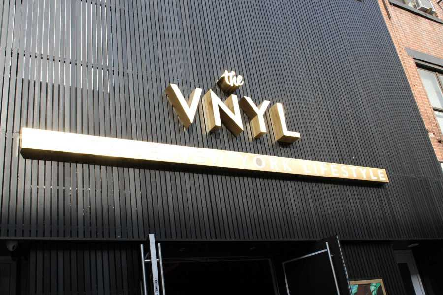 The VNYL, or the Vintage New York Lifestyle, is a trendy new club and coffee bar located at 13th St. and Third Ave.