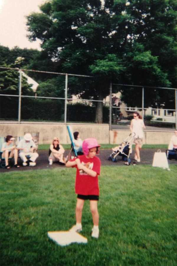 Grace Halio on her little league softball team, the Muckdogs at age 6.