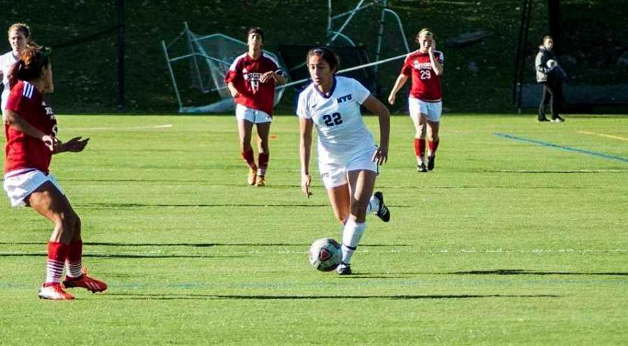 During their 3-0 victory against Centenary College, sophomore Maddie Pena had one goal and one assist.