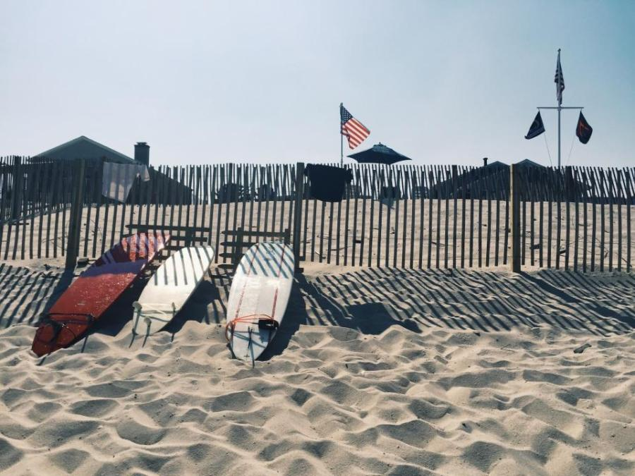 The sunny beaches of Atlantic City, New Jersey make the three hour bus ride worthwhile.