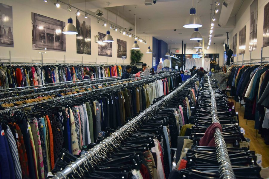 Buying gently used second hand clothing from places such as The Goodwill Store, located at 44 W 8th St., is an affordable way to be chic while being a socially conscious shopper.