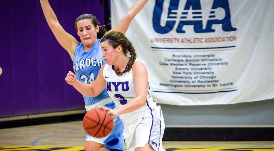 Shaye McGoey was one of four to score in the double figures during NYU's victory against the Staten Island Dolphins.