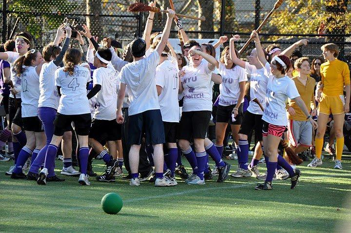 NYU+quidditch+team+celebrates+victory%2C+showcasing+its+immense+spirit+for+the+quirky+sport.