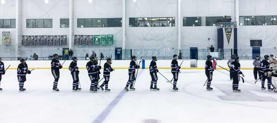 The NYU Hockey team split their decisions on the road.