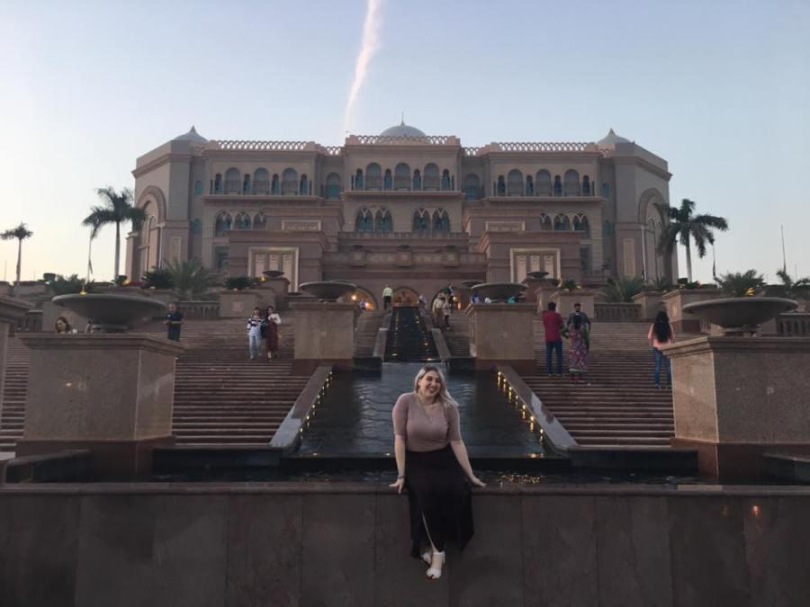 Allie Rubeck spent her winter break in Abu Dhabi, as part of the Presidential Honors Program.