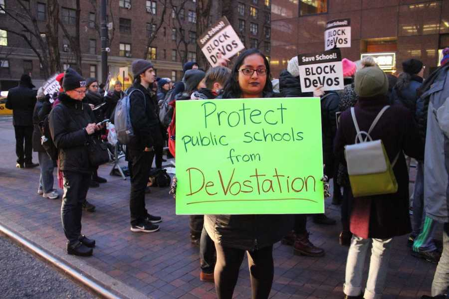 Students, Teachers Gather Outside Senator Schumer's Office to Protest Education Rights