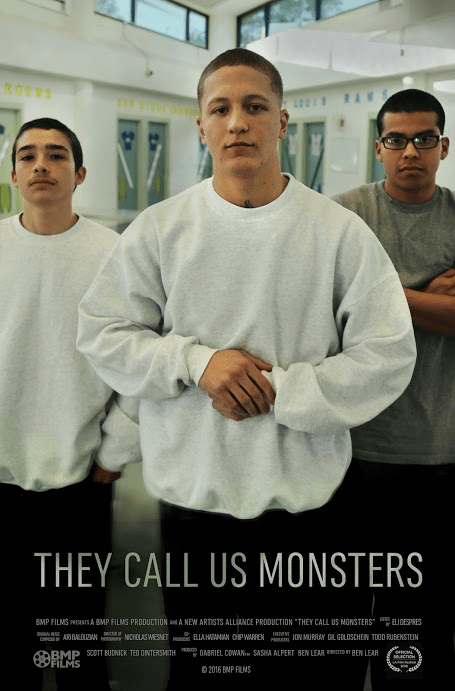 The documentary They Call Us Monsters focuses on three juvenile delinquents and the negative stigma they have with society.