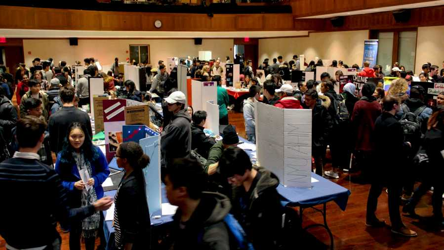 Club fest for the Spring Semester occurred on January 25th at Kimmel.  Only the 665 clubs that were officially established through the extensive application process were allowed to recruit.
