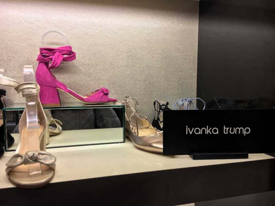 These shoes are from the Ivanka Trump clothing line. Nordstrom recently cut the line off due to poor performance sales, creating a heated discussion about politics in fashion.