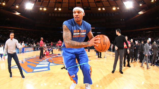 There are rumors that basketball player Carmelo Anthony is considering on leaving the Knicks.  With his career up in the air, his decision is creating tension within the already poorly performing team.