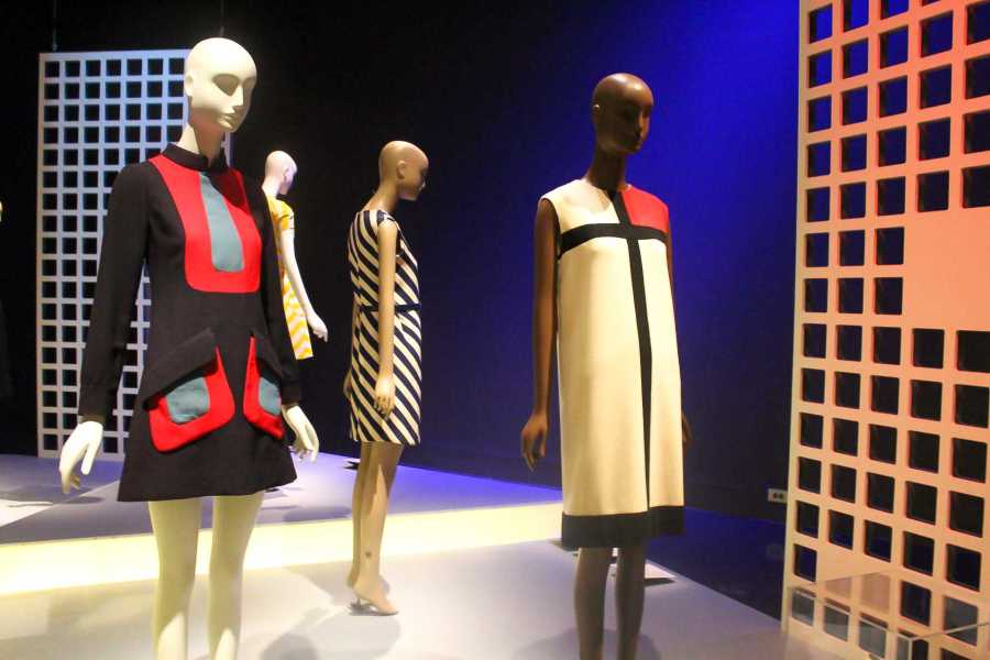 """Dresses from the Fashion Institute of Technology's exhibit """"Paris Refashioned (1957 - 1968)."""" These garments pushed the boundaries of acceptable dress for women in the 1960s feminist movement."""