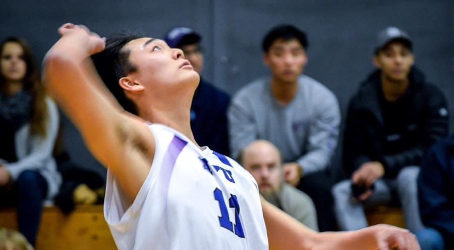 Stern+freshman+Adam+Lee+exemplifies+his+skills+as+the+outside+hitter+by+getting+10+kills+during+NYU%E2%80%99s+game+against+New+Jersey+City+University+on+Feb.+22.+In+the+end%2C+the+Violets+demolished+New+Jersey+City+3-0.+++