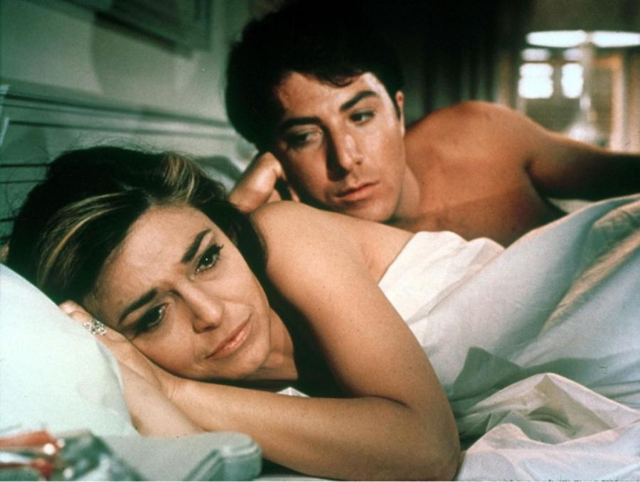 """Anne Bancroft and Dustin Hoffman star in the classic film interpretation of Charles Webb's novel, """"The Graduate."""" The 50th anniversary 4K restoration of the film premiered on Sunday."""