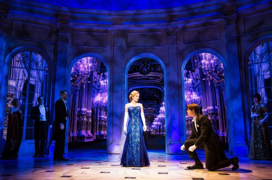 "Christy Altomare as the 18-year-old orphan Anya and Derek Klena as con-man Dmitry star in the musical adaptation of ""Anastasia."" ""Anastasia"" is running at the Broadhurst Theatre."