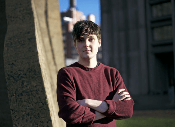 """Steinhardt Music Business senior Dalton Corr works with NYU student-run label Village Records. Like the rest of his music, his upcoming single I Think Of You"""" blends '60s era pop with electronic soundscapes."""