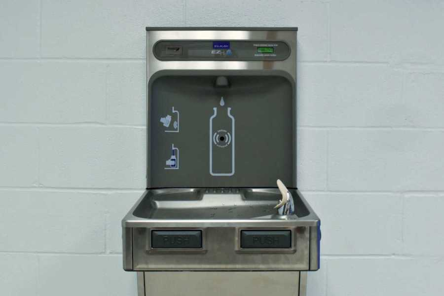 The newly installed water fountain in Goddard Hall has helped to eliminate waste from 1743 disposable water bottles so far. Take Back the Tap hopes to continue the fight for a more sustainable campus.