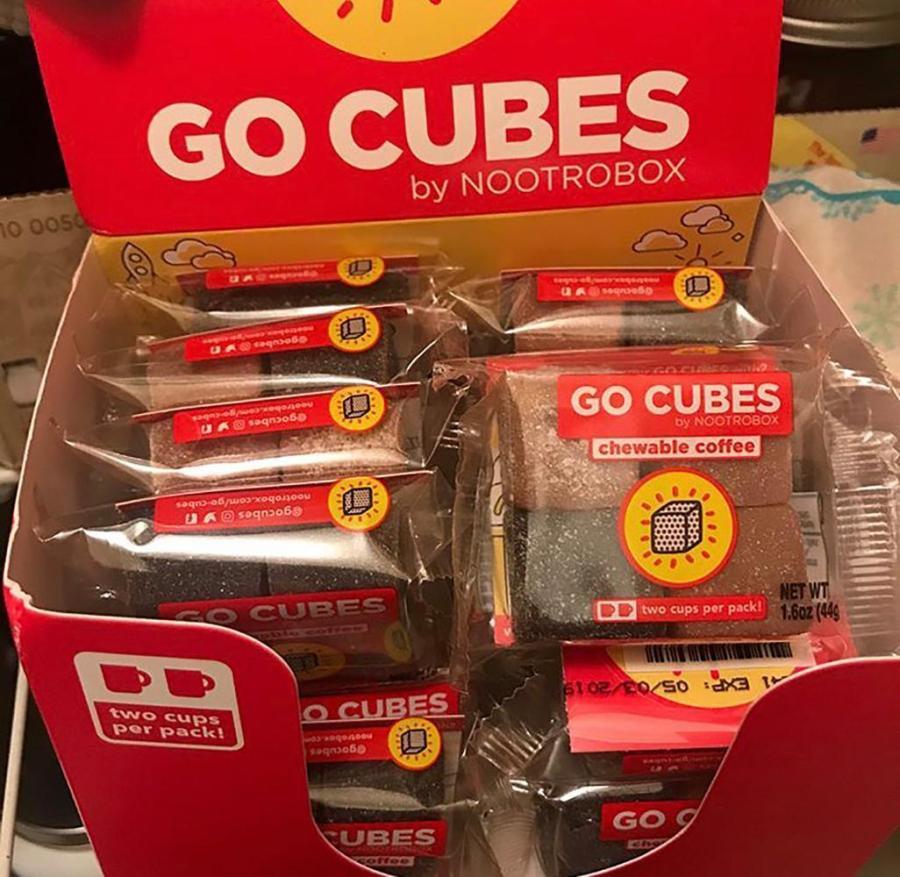 GO CUBES,: a Coffee alternative in gummy form