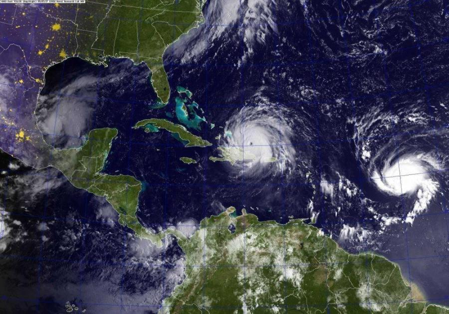 Satellite image of Hurricane Irma heading to Florida on Thursday, September 7th, 2017