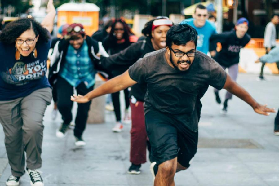 On Sept. 8, upwards of 40 people ran through the Washington Square Arch like anime character Naruto. CAS Sophomore Iffat Nur organized the viral event.