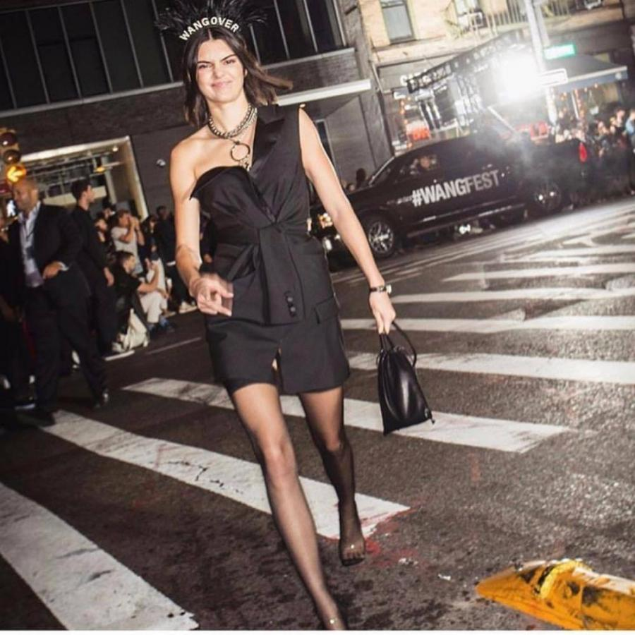 Kendall Jenner walked for Alexander Wang's Spring 2018 which took place Lafayette in SoHo.
